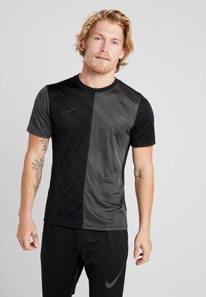 DRY ACADEMY - Camiseta estampada - black/anthracite
