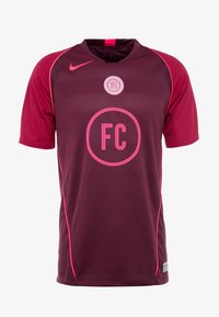 Nike Performance - FC HOME - Print T-shirt - night maroon/noble red/racer pink - 3