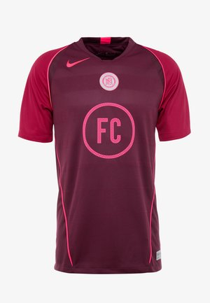 FC HOME - Print T-shirt - night maroon/noble red/racer pink