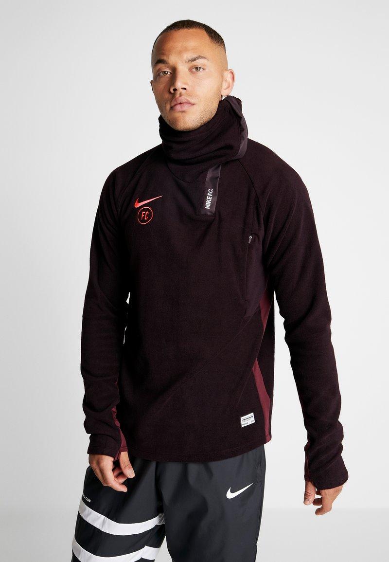 Nike Performance - Fleece jumper - burgundy ash/night maroon/racer pink