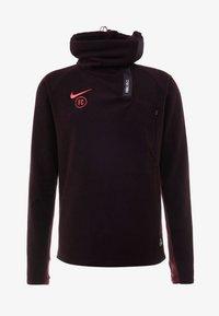 Nike Performance - Fleece jumper - burgundy ash/night maroon/racer pink - 7