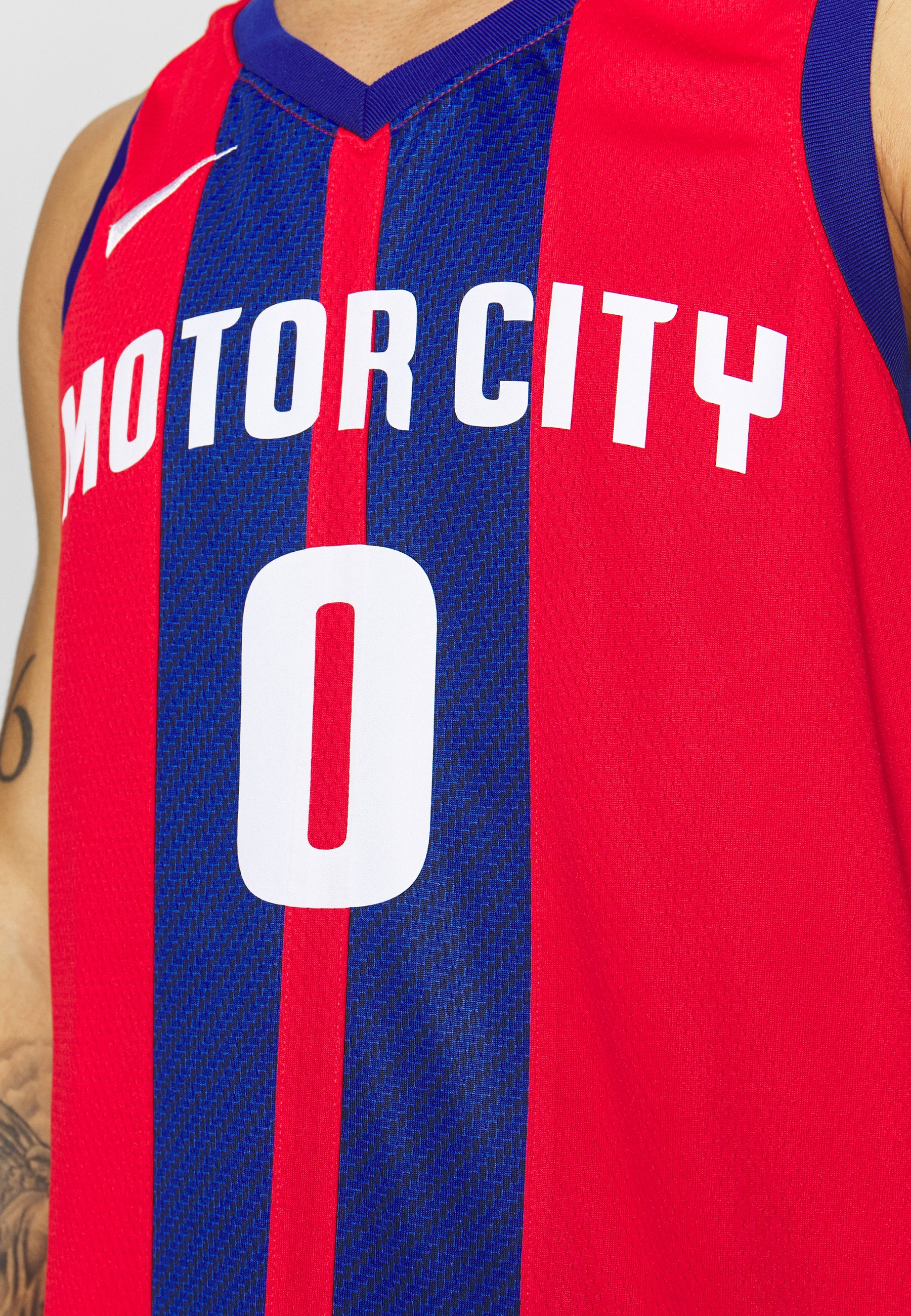 Nike Performance NBA CITY EDITION JERSEY DETROIT PISTONS ANDRE DRUMMOND - Club wear - university red/drummond andre