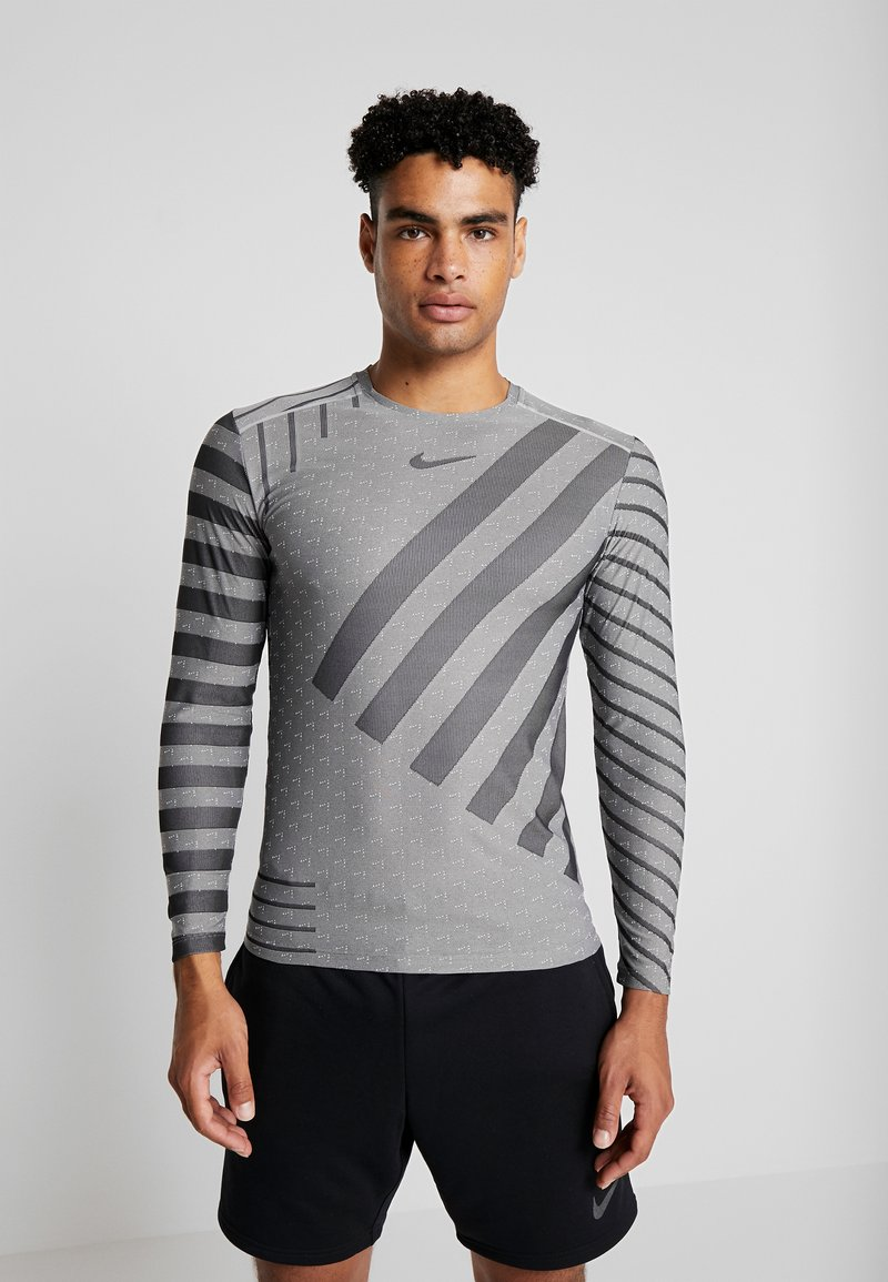 Nike Performance - TECH COOL - Sports shirt - grey fog/black/reflective silver
