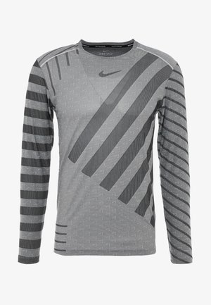 TECH COOL - Sports shirt - grey fog/black/reflective silver