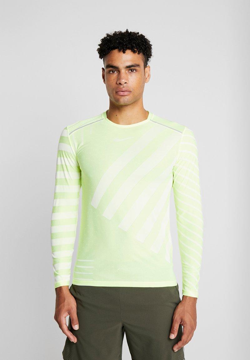 Nike Performance - TECH COOL - Sports shirt - volt/white/reflective silver