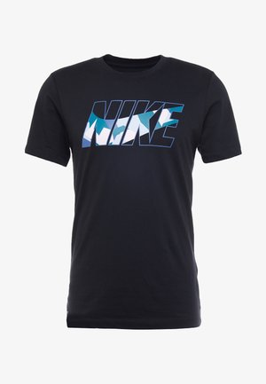 DRY TEE DAZZLE CAMO - Camiseta estampada - black/mystic navy