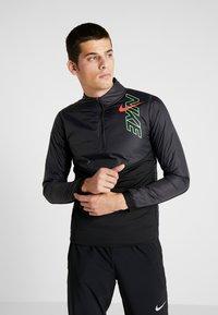 Nike Performance - TRACK AIR - Sports jacket - black/scream green/bright crimson - 0