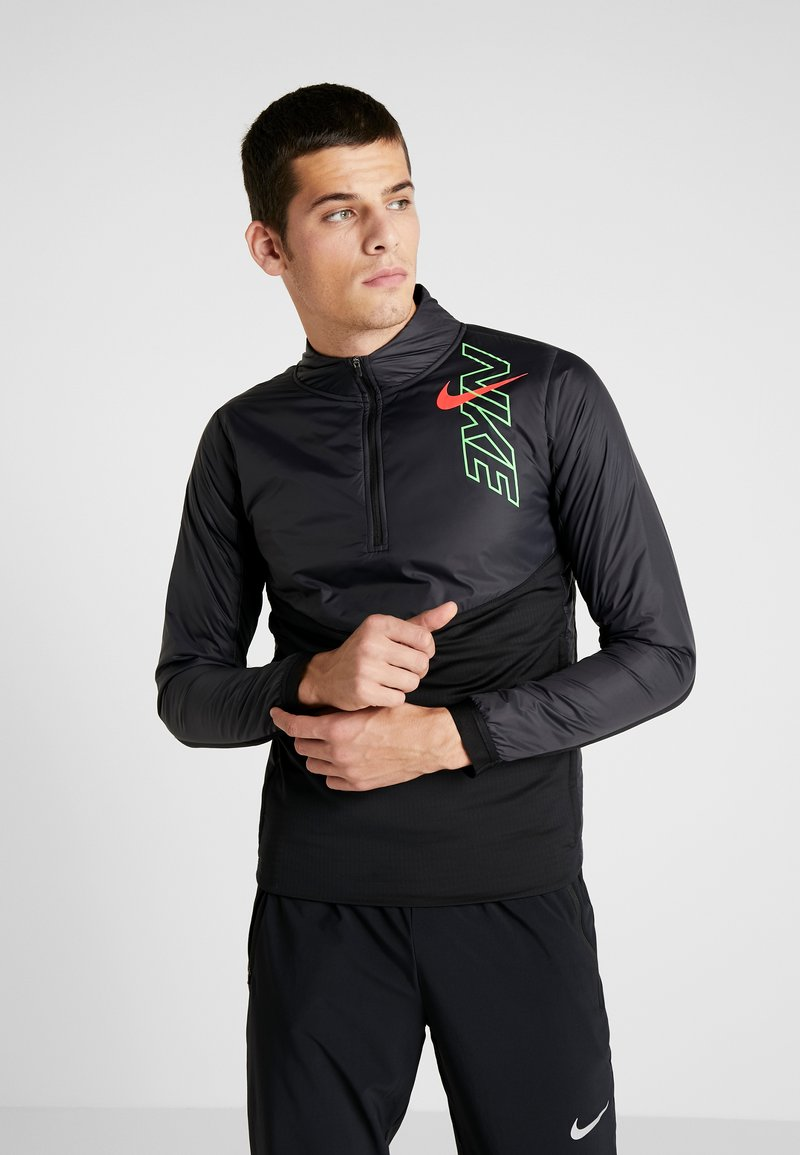 Nike Performance - TRACK AIR - Veste de running - black/scream green/bright crimson