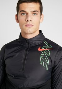 Nike Performance - TRACK AIR - Sports jacket - black/scream green/bright crimson - 5