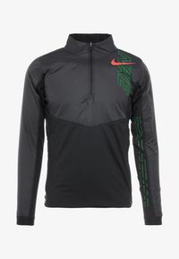 Nike Performance - TRACK AIR - Juoksutakki - black/scream green/bright crimson - 4