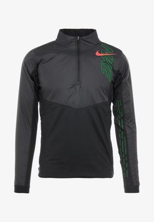 TRACK AIR - Sports jacket - black/scream green/bright crimson