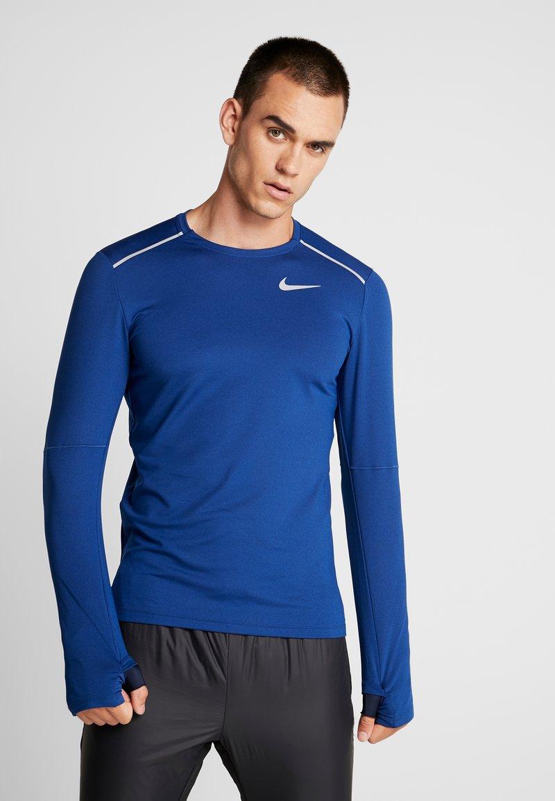 Nike Performance - CREW - Camiseta de deporte - obsidian/indigo force/reflective silver