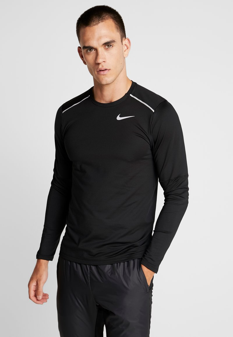 Nike Performance - CREW - Funktionsshirt - black/reflective silver