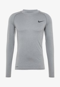 Nike Performance - PRO TIGHT MOCK - Camiseta de deporte - smoke grey/light smoke grey/black - 3
