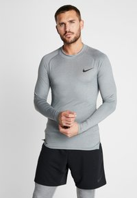 Nike Performance - PRO TIGHT MOCK - T-shirt sportiva - smoke grey/light smoke grey/black - 0