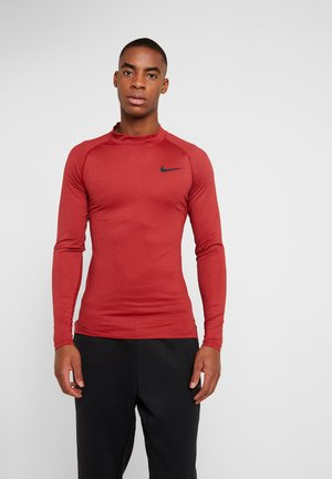 PRO TIGHT MOCK - T-shirt de sport - night maroon/university red/black