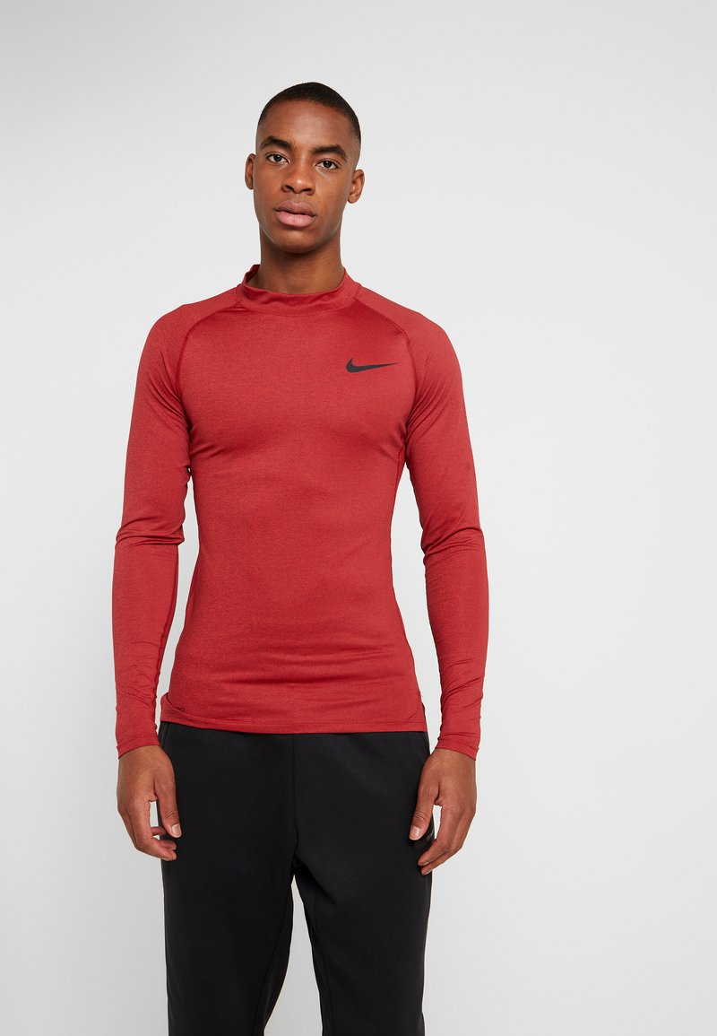 Nike Performance - PRO TIGHT MOCK - Camiseta de deporte - night maroon/university red/black