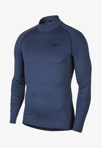 Nike Performance - PRO TIGHT MOCK - Sports shirt - obsidian/ocean fog/black - 0