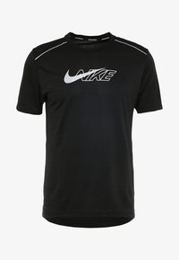 Nike Performance - MILER FLASH - Camiseta estampada - black/silver - 5