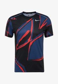 Nike Performance - MILER FIESTA FLORAL - T-shirt print - mystic navy/reflective silver - 5