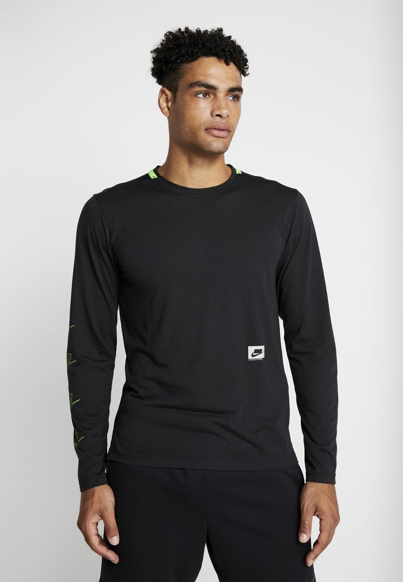 Nike Performance - DRY - Sportshirt - black/habanero red/scream green