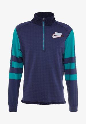 WILD RUN MIDLAYER - T-shirt de sport - blackened blue/reflective silver