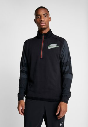 WILD RUN MIDLAYER - Sports shirt - black/off noir/silver