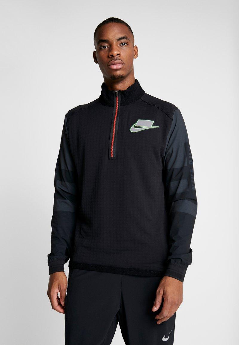 Nike Performance - WILD RUN MIDLAYER - T-shirt de sport - black/off noir/silver