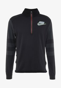 Nike Performance - WILD RUN MIDLAYER - T-shirt sportiva - black/off noir/silver - 4