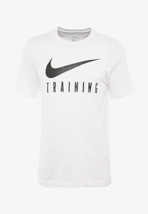 DRY TEE NIKE TRAIN - T-shirt con stampa - white/black