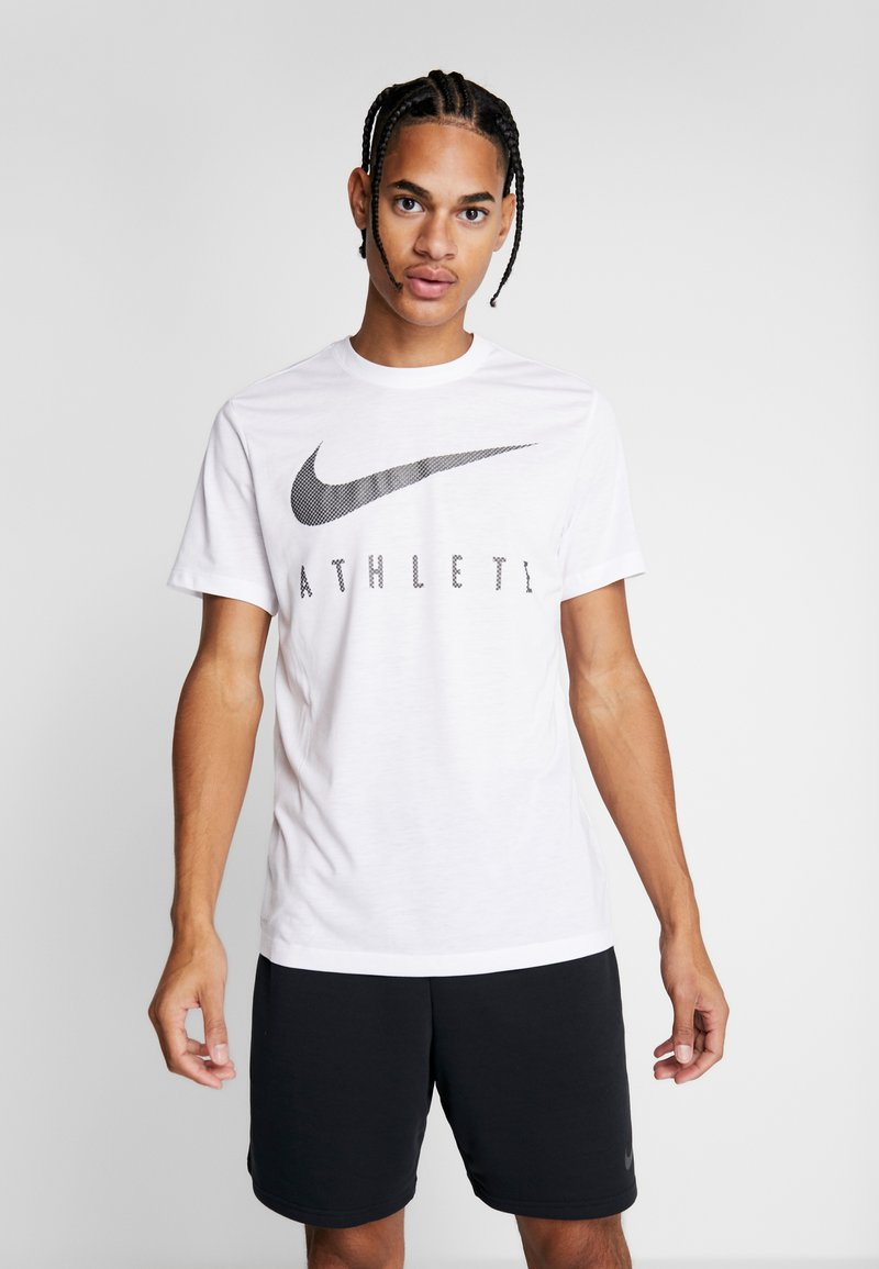 Nike Performance - DRY TEE - T-shirt med print - white