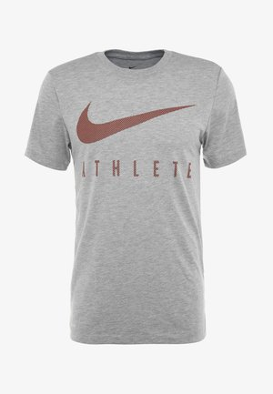 DRY TEE - Camiseta estampada - dark grey heather