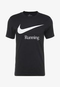 Nike Performance - DRY RUN  - T-shirts med print - black/white