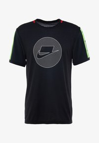Nike Performance - WILD RUN - Sports shirt - black/electric green/pale ivory - 4