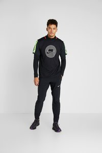 Nike Performance - WILD RUN - Sports shirt - black/electric green/pale ivory - 1