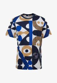 Nike Performance - DRY TEE - T-shirt imprimé - obsidian/game royal/beechtree - 4