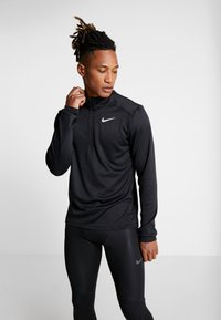 Nike Performance - PACER - Sports shirt - black/reflective silver - 0
