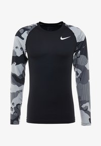 Nike Performance - SLIM CAMO  - Sports shirt - black/white - 3