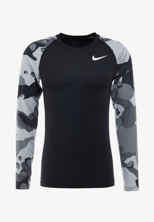 SLIM CAMO  - Sports shirt - black/white