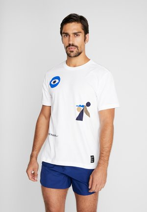 DRY TEE AIR CODY - Print T-shirt - white