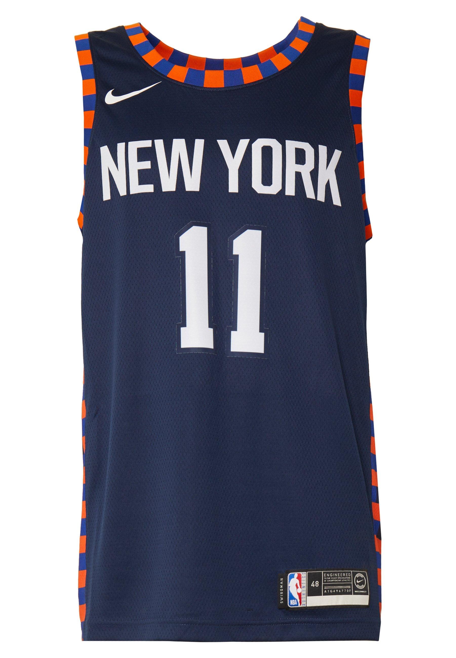 Nike Performance NBA CITY EDITION NEW YORK KNICKS FRANK NTILIKINA SWINGMAN - Artykuły klubowe - college navy