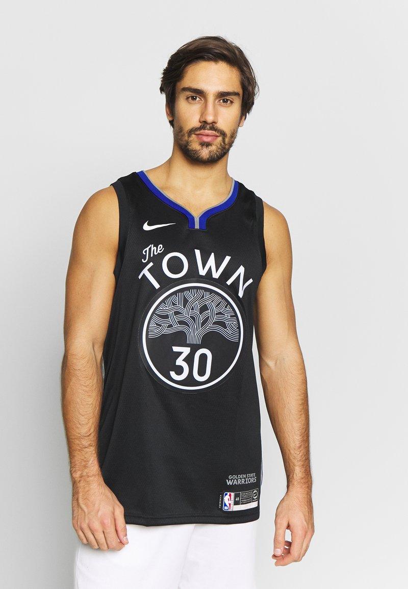Nike Performance - NBA CITY EDITION GOLDEN STATE WARRIORS STEPH CURRY SWINGMAN - Artykuły klubowe - black/dark steel grey/rush blue/white