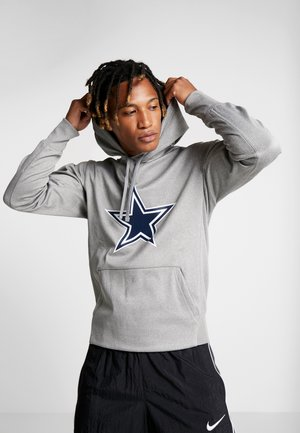 NFL DALLAS COWBOYS ESSENTIAL LOGO HOODIE - Hoodie - dark grey heather/college navy