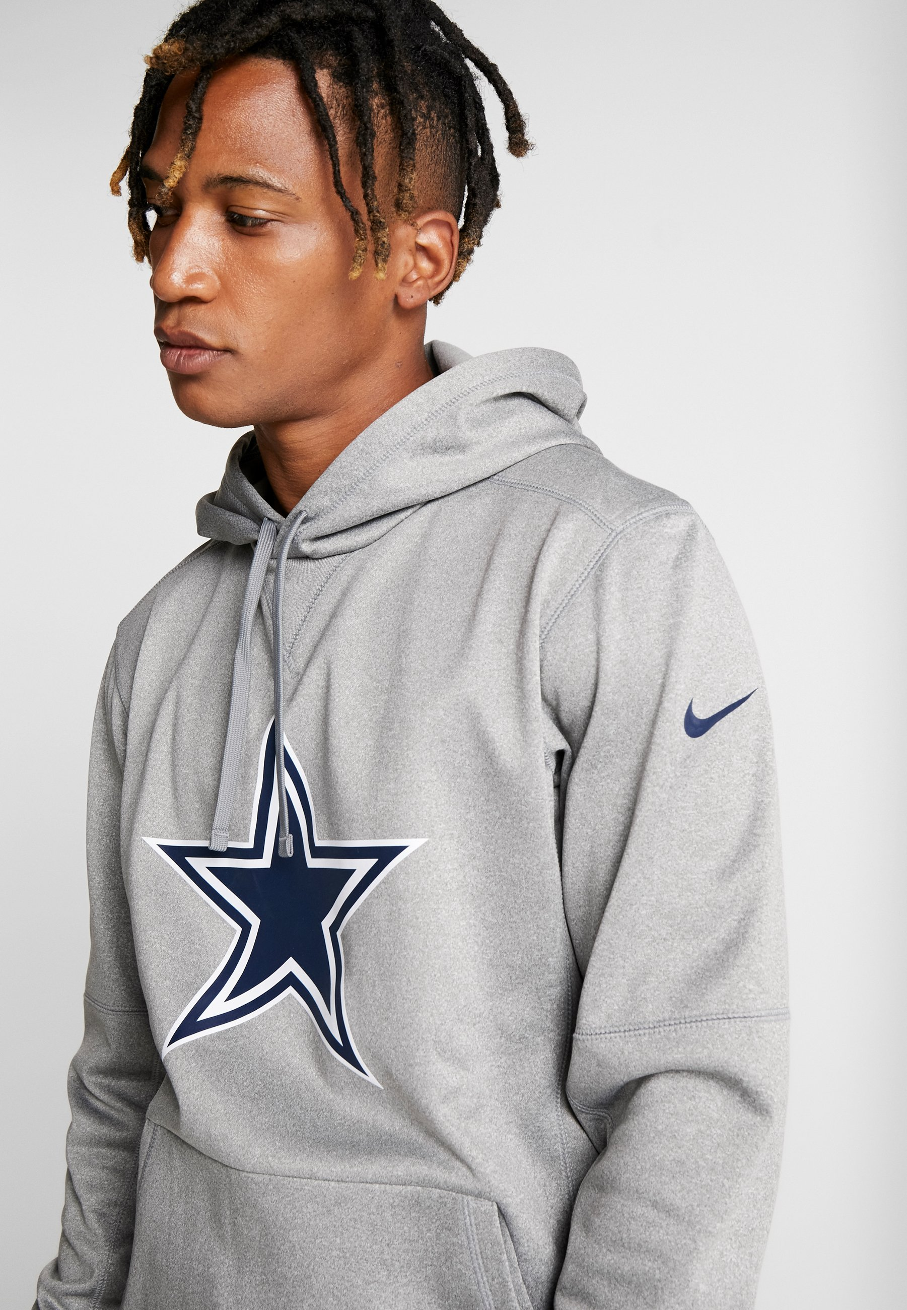 Grey Heather Navy college Dallas Nike Essential Logo HoodieFelpa Nfl Con Cowboys Performance Dark Cappuccio KJl1FuT3c