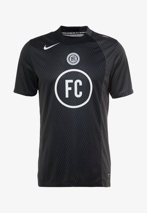 FC AWAY - T-shirt print - black/anthracite/white