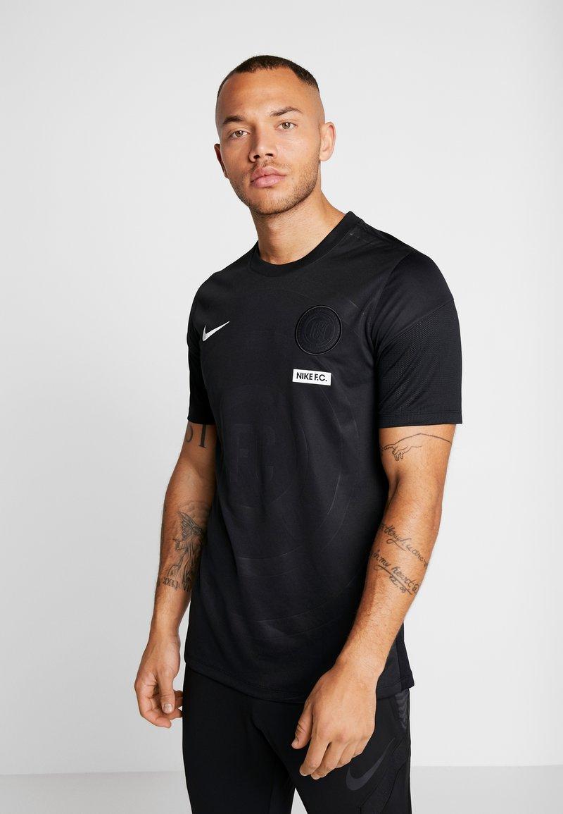 Nike Performance - M NIKE FC HOME JSY SS - Print T-shirt - black/white