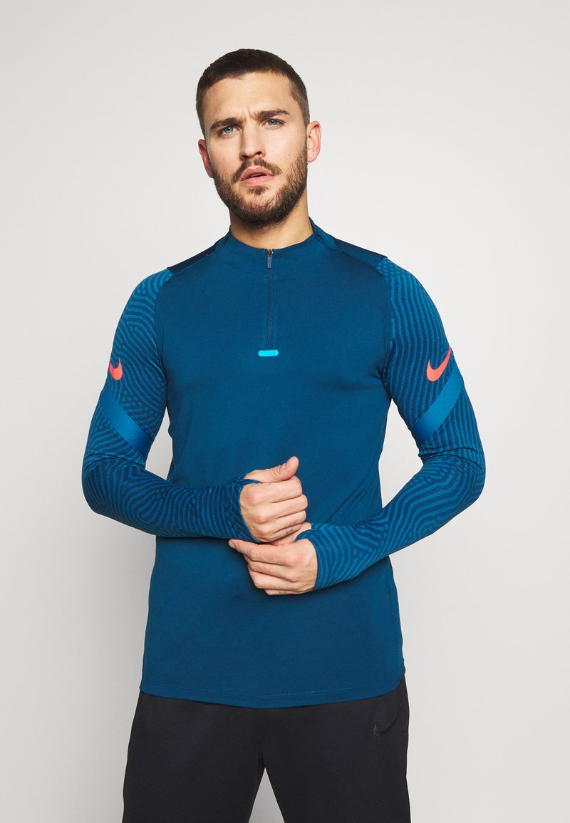 Nike Performance - DRY STRIKE DRILL - Tekninen urheilupaita - valerian blue/laser crimson