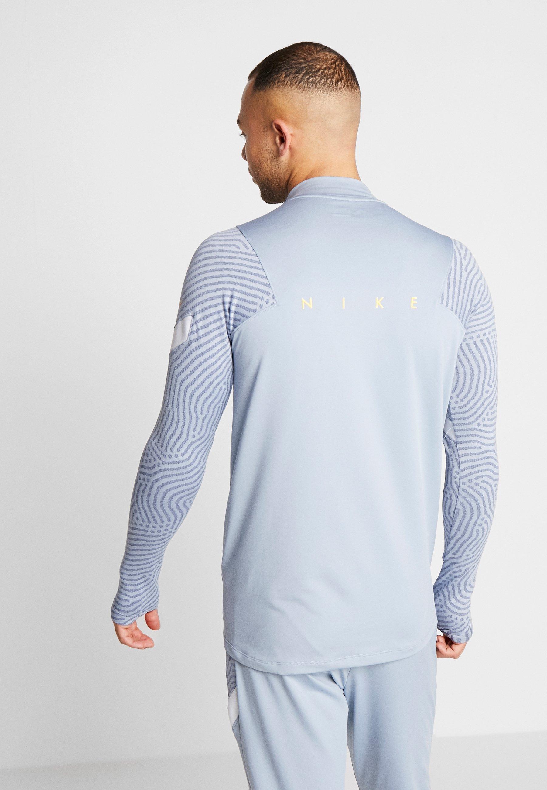 Nike Performance DRY STRIKE DRILL - T-shirt sportiva - obsidian mist/laser orange