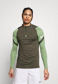 Nike Performance - DRY STRIKE DRILL - Sports shirt - cargo khaki/cargo khaki/white - 0