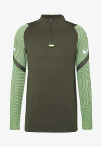 Nike Performance - DRY STRIKE DRILL - Sports shirt - cargo khaki/cargo khaki/white - 5